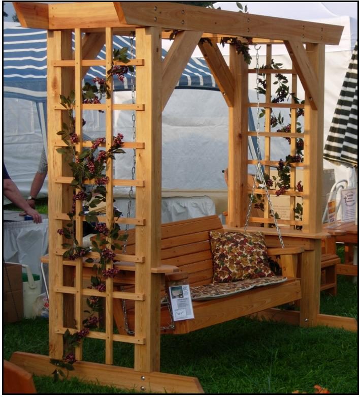 arbor with swing